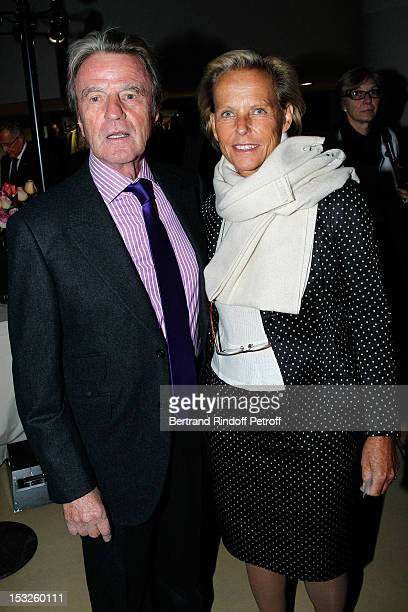 Bernard Kouchner and his wife Christine Ockrent attend the Foundation Martine Aublet Gala Dinner at Musee du Quai Branly on October 1 2012 in Paris...