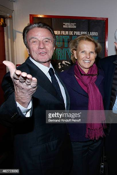 Bernard Kouchner and his wife Christine Ockrent attend the Private Screening of the Movie 'Tout Peut Arriver' at Mac Mahon Cinema on February 3 2015...