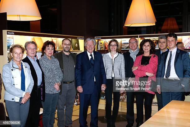 Bernard Kouchner and his wife Christine Ockrent Roselyne Bachelot Narquin Professor of 'Chartes' School Nathan Schlanger President of 'Martine Aublet...