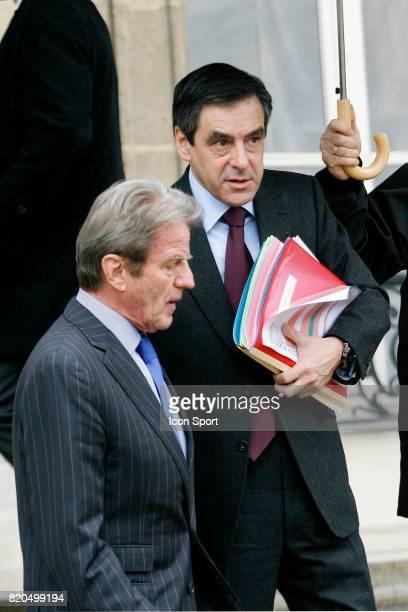 Bernard KOUCHNER / Francois FILLON conseil des Ministres Palais de l'Elysee