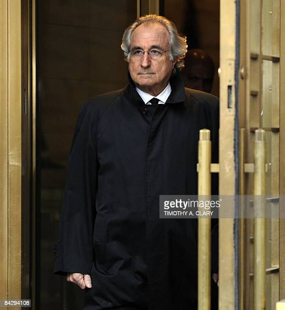 Bernard L Madoff leaves US Federal Court after a hearing regarding his bail on January 14 2009 in New York Madoff will remain free on bail a US judge...