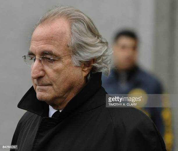 Bernard L Madoff leaves US Federal Court January 14 2009 after a hearing regarding his bail in New York Madoff will remain free on bail a US judge...