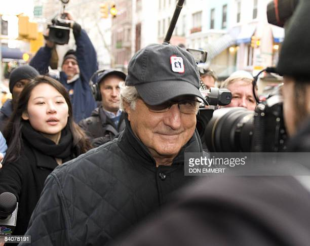 Bernard L Madoff walks down Lexington Ave to his apartment December 17 2008 in New York City US Wall Street baron Bernard Madoff was set tough new...