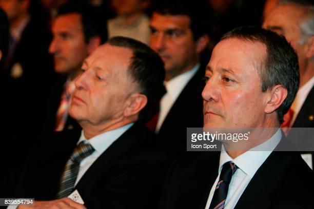 Bernard LACOMBE et Jean Michel AULAS Tirage au sort de la Champions League Mairie de Paris