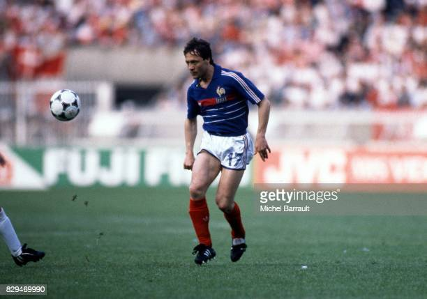Bernard Lacombe of France during the European Championship match between France and Denmark at Parc des Princes Paris France on 12th June 1984