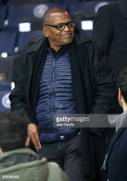 Bernard Lama attends the French Ligue 1 match between Paris Saint Germain and OGC Nice at Parc des Princes stadium on December 11 2016 in Paris France