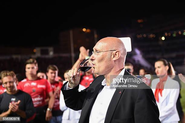 Bernard Laporte Coach of Toulon during the rugby Top 14 match between Toulon and Union Begles Bordeaux at Stade Mayol on June 5 2016 in Toulon France