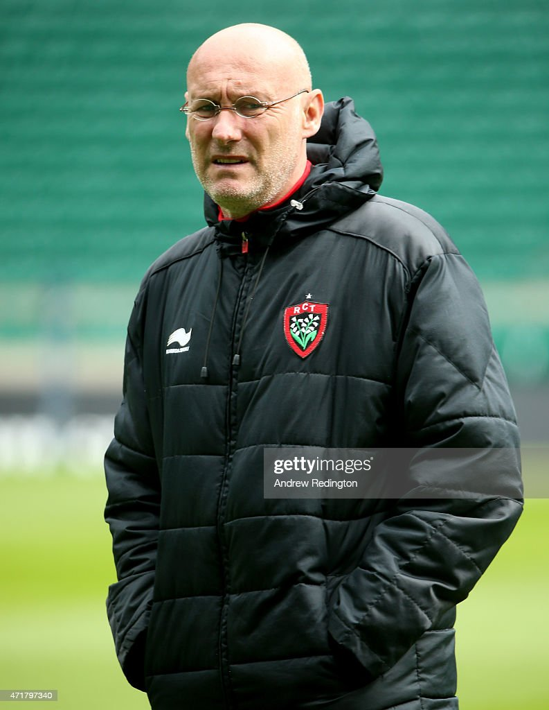 Bernard Laporte, coach of Toulon, is pictured during the European Rugby Champions Cup Captain's Run at Twickenham Stadium on May 1, 2015 in London, England.