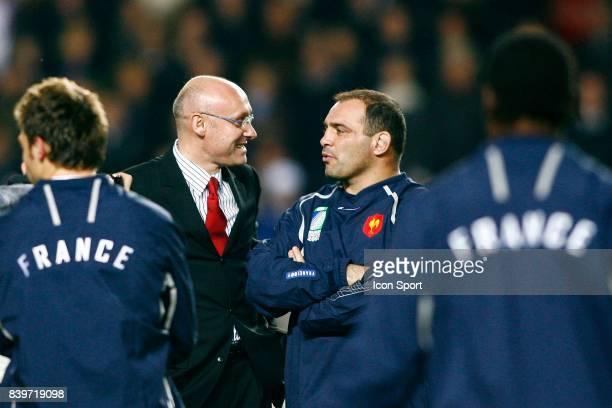 Bernard LAPORTE et Raphael IBANEZ Argentine / France Rugby Coupe du Monde de Rugby 2007 Match pour la 3eme place