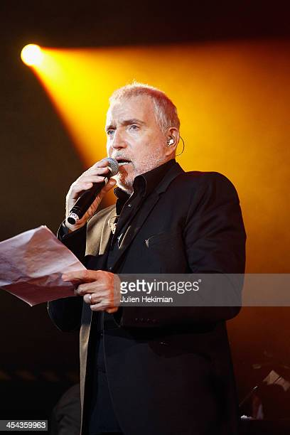 Bernard Lavilliers performs on stage during the 50th anniversary celebration of french radio France Inter at La Gaite Lyrique on December 8 2013 in...