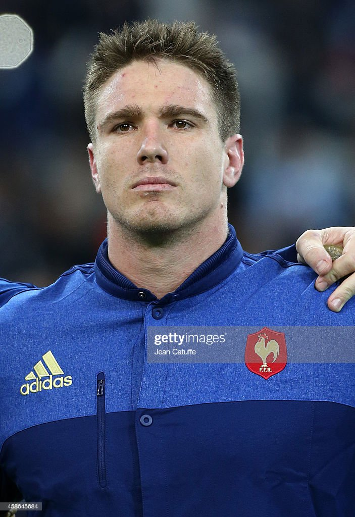 <a gi-track='captionPersonalityLinkClicked' href=/galleries/search?phrase=Bernard+Le+Roux&family=editorial&specificpeople=7397375 ng-click='$event.stopPropagation()'>Bernard Le Roux</a> of France looks on during National Anthems ahead of the friendly match between France and Fiji on November 8, 2014 at Stade Velodrome in Marseille, France.