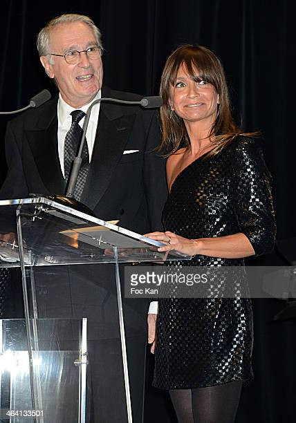Bernard Lecoq and Axelle Laffont attend 'Les Lumieres 2014' Cinema Awards 19th Ceremony at Espace Cardin on January 20 2014 in Paris France