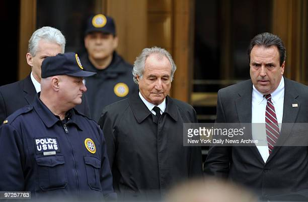Bernard Madoff leaves Manhattan Federal court after a hearing there Tusday afternoon The bulletproof vest Bernie Madoff wore under his fine suit...