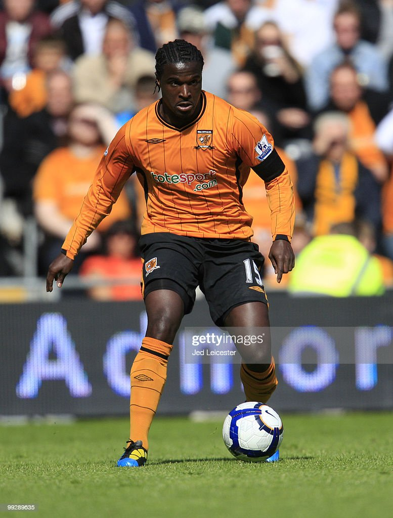 <a gi-track='captionPersonalityLinkClicked' href=/galleries/search?phrase=Bernard+Mendy&family=editorial&specificpeople=661868 ng-click='$event.stopPropagation()'>Bernard Mendy</a> of Hull City during the Barclays Premier League match between Hull City and Liverpool at the KC Stadium on May 9, 2010 in Hull, England.