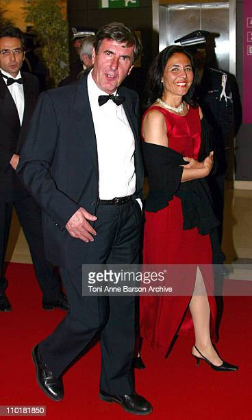 Bernard Menez and guest during 2003 Cannes Film Festival Opening Night Dinner Arrivals at Palais des Festivals in Cannes France