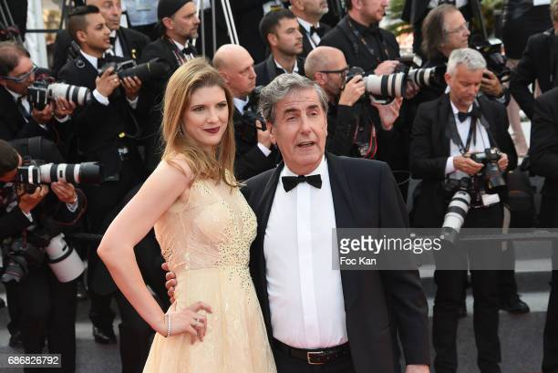 Bernard Menez and his guest attend the 'The Meyerowitz Stories' screening during the 70th annual Cannes Film Festival at Palais des Festivals on May...