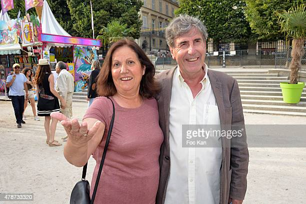 Bernard Menez and his wife attend 'Fete des Tuileries' Launch Party To Benefit Meghanora Association on June 26 2015 in Paris France