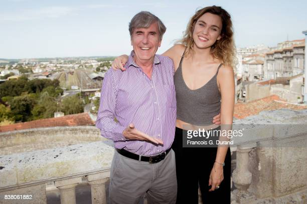Bernard Menez and Margot Luciarte attends the 10th Angouleme FrenchSpeaking Film Festival on August 23 2017 in Angouleme France