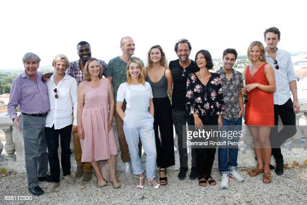 Bernard Menez Margot Luciarte Stephane de Groodt Lucie Boujenah and 'Les Talents ADAMI' attend the 10th Angouleme FrenchSpeaking Film Festival Day...