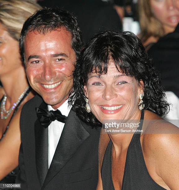 Bernard Montiel and Princess Stephanie of Monaco during Monaco Red Cross Ball 2004 Dinner at Monte Carlo Sporting Club in MonteCarlo