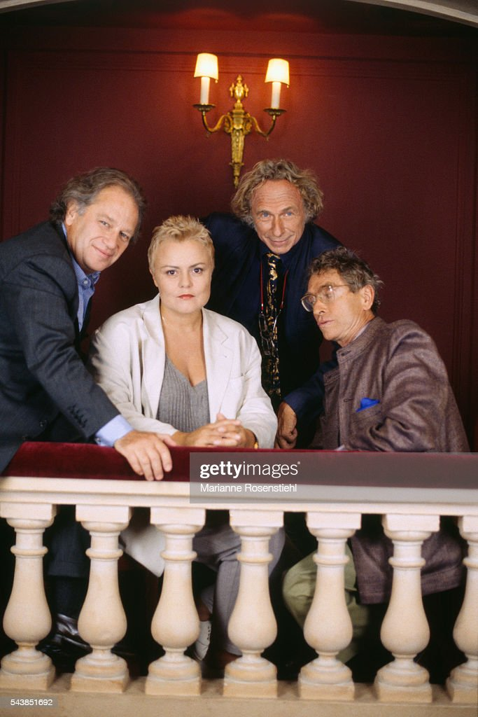 Bernard Murat directs French humorists Muriel Robin Pierre Richard and Darry Cowl in the stage production of 'On purge bébé' and 'Feu la mère de...