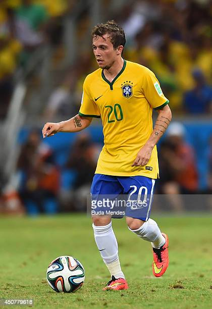 Bernard of Brazil controls the ball during the 2014 FIFA World Cup Brazil Group A match between Brazil and Mexico at Castelao on June 17 2014 in...