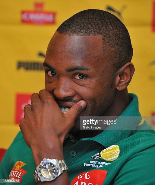Bernard Parker during the South African National soccer team interview session at the team hotel on October 08 2012 in Johannesburg South Africa...