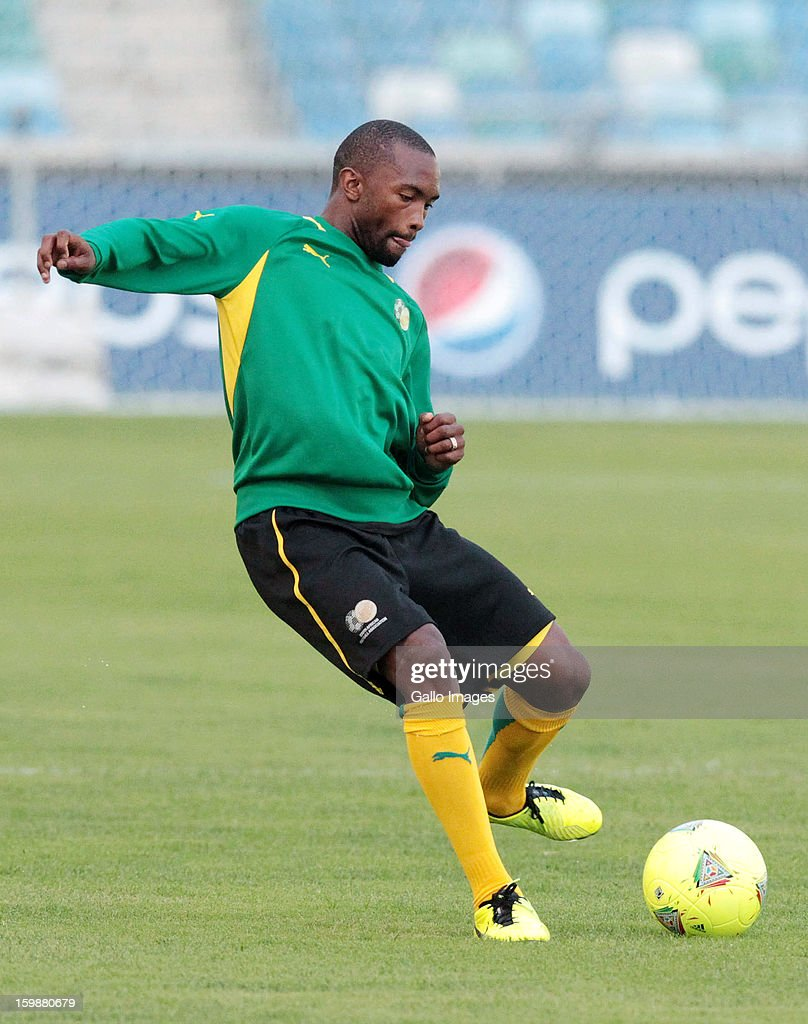 <a gi-track='captionPersonalityLinkClicked' href=/galleries/search?phrase=Bernard+Parker&family=editorial&specificpeople=1003236 ng-click='$event.stopPropagation()'>Bernard Parker</a> during the South African national soccer team training session at Moses Mabhida Stadium on January 22, 2013 in Durban, South Africa.