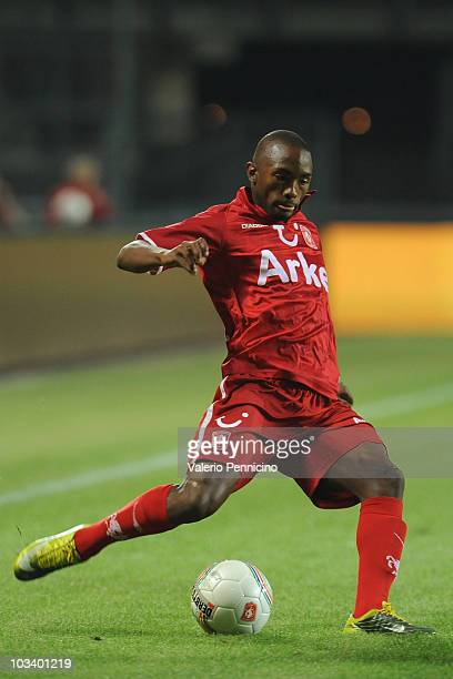 Bernard Parker of FC Twente in action during the Eredivisie match between FC Twente and SC Hereenveen at De Grolsch Veste Stadium on August 14 2010...