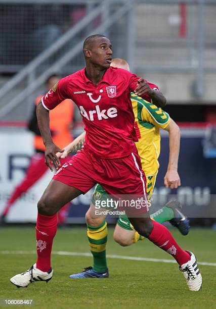 Bernard Parker of FC Twente in action during the Eredivisie match between FC Twente and ADO Den Haag at 'the 'Grolsch Veste' Stadium'on October 24...