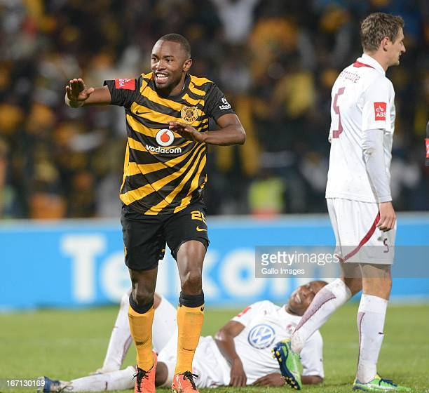 Bernard Parker of Kaizer Chiefs celebrates the second goal during the Absa Premiership match between Moroka Swallows and Kaizer Chiefs at Volkswagen...
