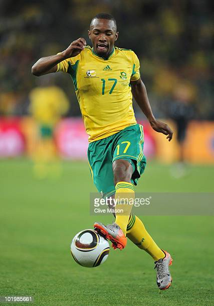 Bernard Parker of South Africa controls the ball during the 2010 FIFA World Cup South Africa Group A match between South Africa and Mexico at Soccer...