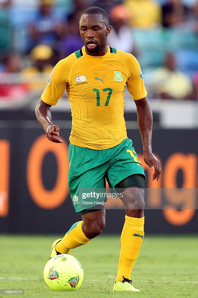 <a gi-track='captionPersonalityLinkClicked' href=/galleries/search?phrase=Bernard+Parker&family=editorial&specificpeople=1003236 ng-click='$event.stopPropagation()'>Bernard Parker</a> of South Africa during the 2013 African Cup of Nations match between South Africa and Angola at Moses Mahbida Stadium on January 23, 2013 in Durban, South Africa.