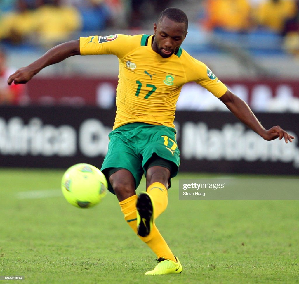 Bernard Parker of South Africa during the 2013 African Cup of Nations match between South Africa and Angola at Moses Mahbida Stadium on January 23, 2013 in Durban, South Africa.