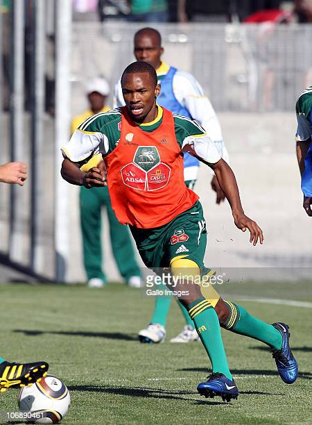 Bernard Parker of South Africa in action during a South Africa team training session ahead of the Nelson Mandela Challenge Cup match against the USA...