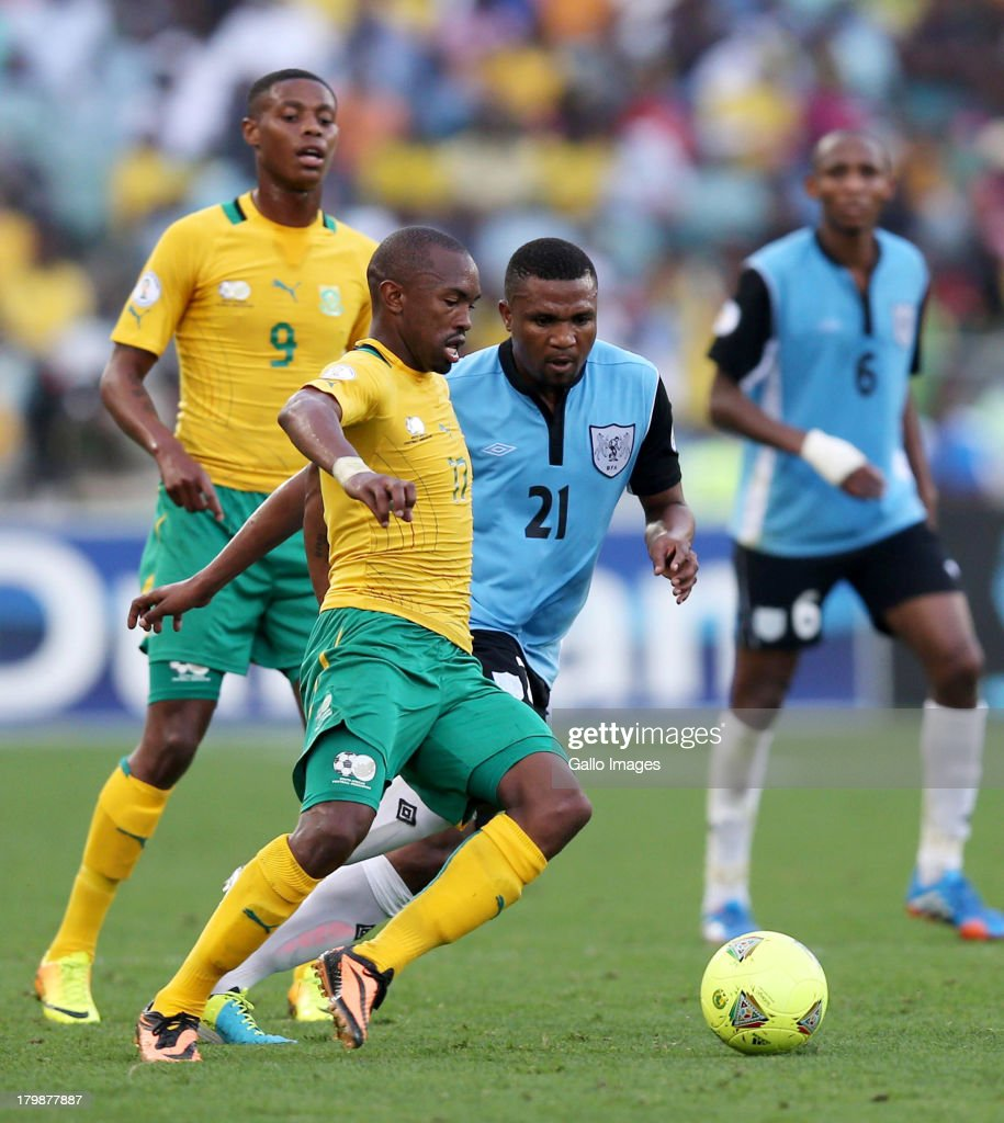 Bernard Parker of South Africa in action during the 2014 FIFA World Cup Qualifier match between South Africa and Botswana from Moses Mabhida Stadium on September 07, 2013 in Durban, South Africa.