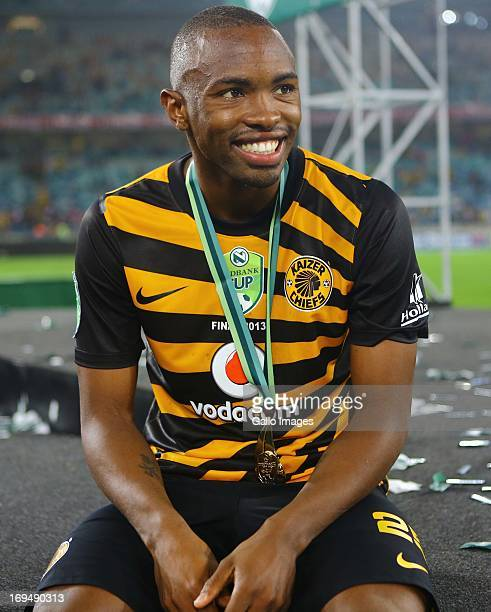 Bernard Parker of the Chiefs celebrates after the Nedbank Cup Final between SuperSport United and Kaizer Chiefs at Moses Mabhida Stadium on May 25...