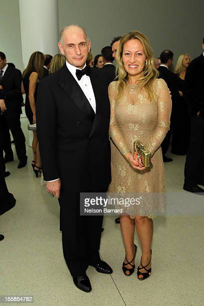 Bernard Picasso and Diana Widmaier Picasso attend the Guggenheim International Gala in celebration of Picasso Black and White organized by Carmen...