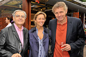 Bernard Pivot Anne Sophie Lapix and Patrick Poivre d'Arvor at Roland Garros Village in Paris