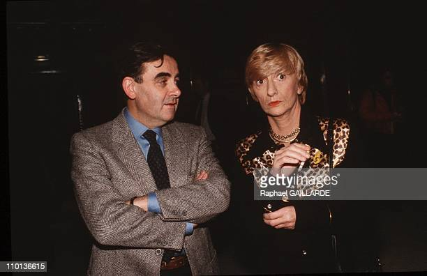 Bernard Pivot's TV broadcast Apostrophes in Paris France on December 13 1985 Bernard Pivot and Francoise Sagan