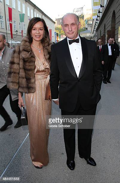Bernard Ruiz Picasso and his wife Almine Picassoattend the opening of the easter festival 2014 on April 12 2014 in Salzburg Austria