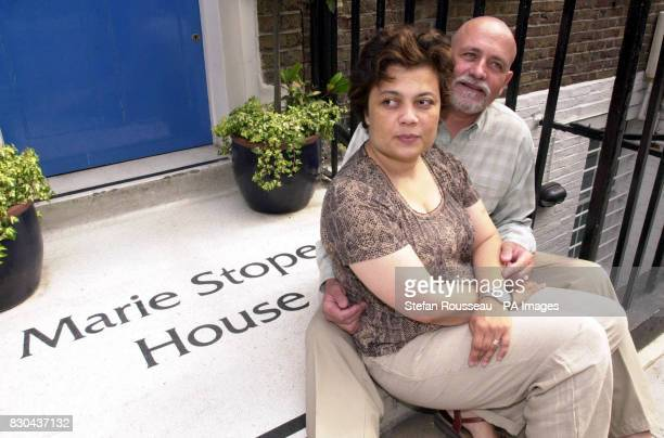 Bernard Schnakenbourg with his partner Sandra outside the Marie Stopes International building where he will become the first beneficiary of a...
