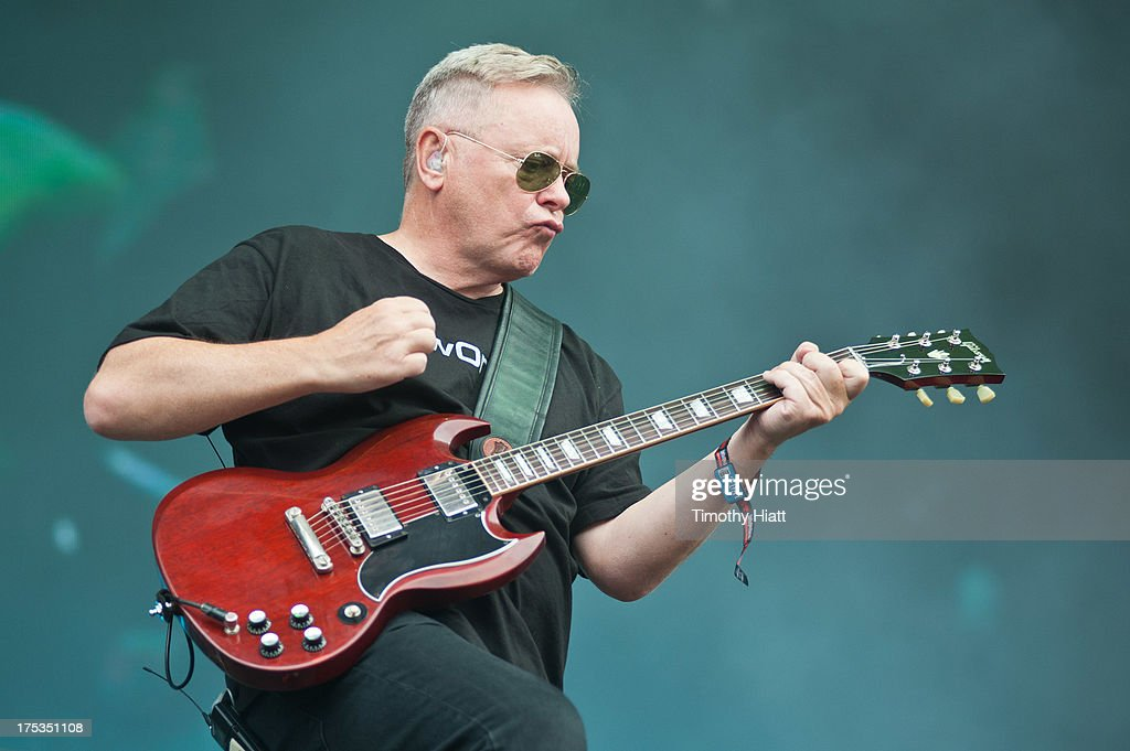 Bernard Sumner of New Order performs during Lollapalooza 2013 at Grant Park on August 2, 2013 in Chicago, Illinois.