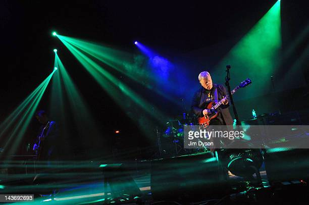 Bernard Sumner of New Order performs live on stage at Brixton Academy on May 2 2012 in London United Kingdom