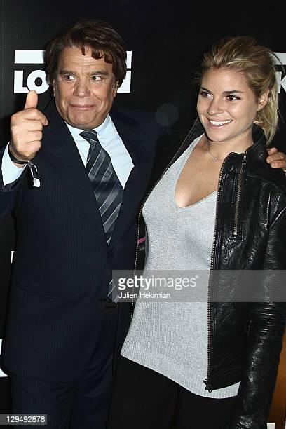 Bernard Tapie and his daughter Sophie attend the 'Look' Boutique Opening on October 17 2011 in Paris France