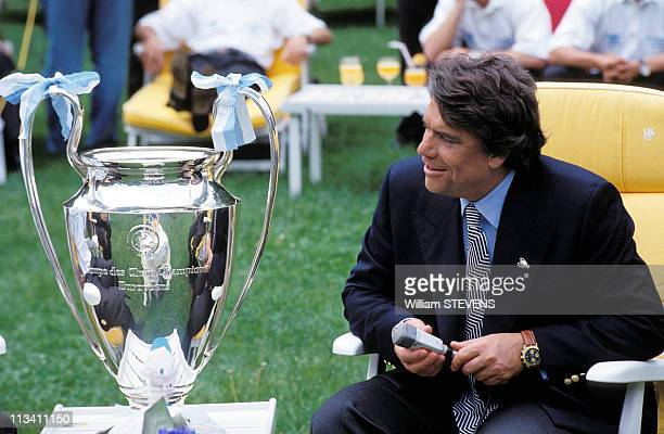 Bernard Tapie And Om Soccer Team Celebrate Victory In Champions League In Marseilles On May 27th1993