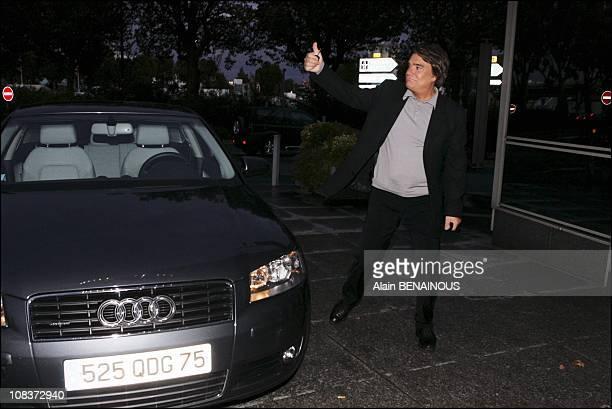 Bernard Tapie on 20 o'clock of TF1 in Paris France on October 01 2005