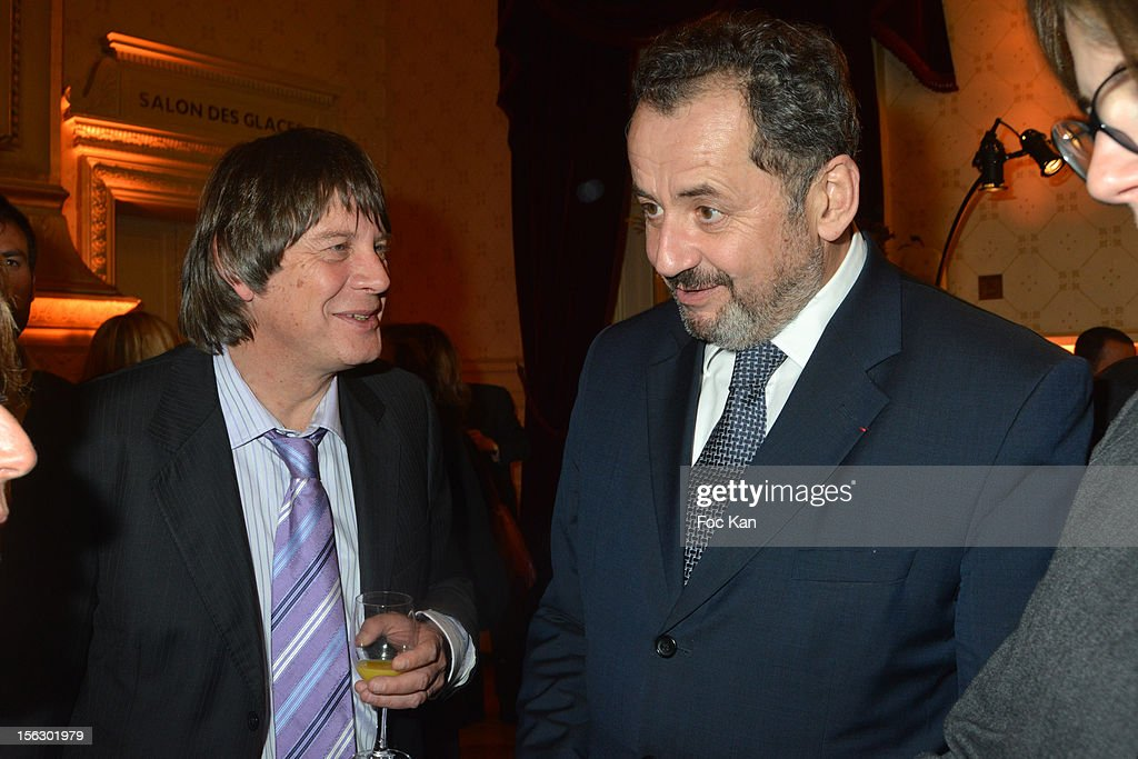 Bernard Thibault and Guillaume Sarkozy attend the 20th 'Gala Pour L'Espoir' At the Theatre du Chatelet on November 12 2012 in Paris France