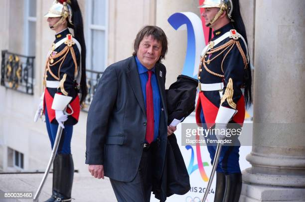Bernard Thibault during the reception of the CIO by the French President at Elysee Palais on September 15 2017 in Paris France