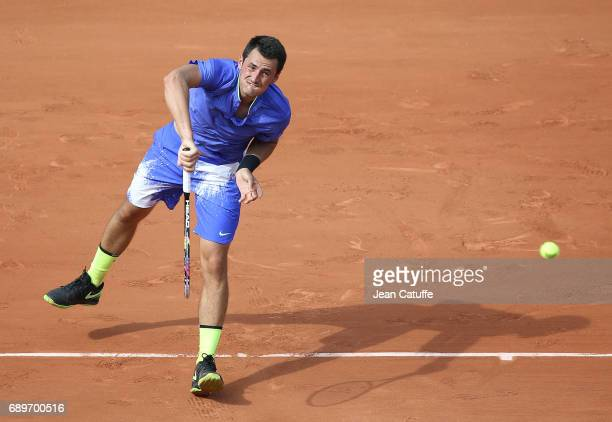 Bernard Tomic of Australia on day 1 of the 2017 French Open second Grand Slam of the season at Roland Garros stadium on May 28 2017 in Paris France